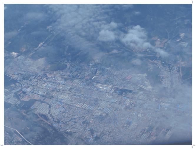 中国ハルピンを過ぎた辺りの地表