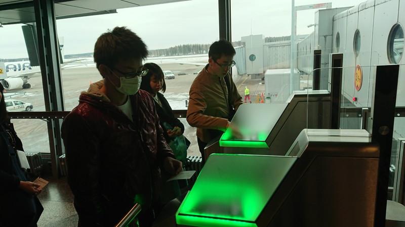 ヘルシンキ空港で